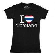 geschenkidee.ch Ländershirt Thailand, Schwarz, M, Frau