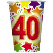 Pahare 200 ml Stardust 40, 10 buc/Set Big Party