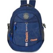 Classic Polyester Multi Pocket School Bag |Casual Bag | Shoulder Backpacks for Girls & Boys 36 L Backpack(Blue, Grey)