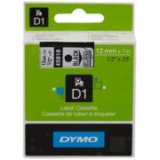 Dymo 45010 Nastro nero su trasparente Originale S0720500
