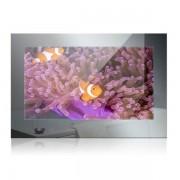 Nemo Stock Mues Tec badkamer TV spiegelfront met 56cm beeldscherm IP65 totale spiegelgrootte 60 x 41,5 cm met montageframe waterdichte afstandsbediening 12V SG-2200