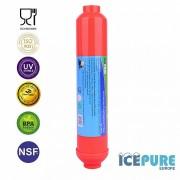 Inline Post Carbon Waterfilter Zilver Koolstof van Icepure ICP-T33-S