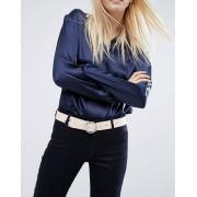 ASOS Ремень для джинсов с круглой пряжкой и уголком ASOS - Бежевый