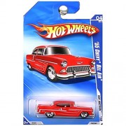 2010 HOT WHEELS HOT AUCTION 04 OF 10 RED 55 CHEVY BEL AIR