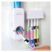 Bluerain Enterprise Automatic Toothpaste Dispencer With Toothbrush Holder