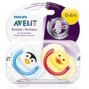 Avent Philips® Avent Freeflow Beruhigungssauger Tiermotive 0-6 Monate