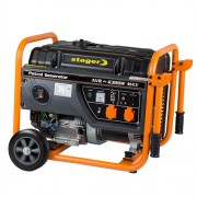 Generator de curent electric Stager GG 7300W, 6300 W, monofazat, benzina