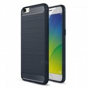 Naxtop alambre de dibujo fibra de carbono con textura TPU acabado cepillado telefono suave carcasa de la contraportada para oppo R9S