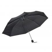 Merkloos Kleine uitvouwbare paraplu zwart 96 cm
