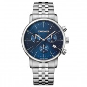 Wenger Urban Classic Reloj de cuarzo Cronógrafo acero inoxidable blue-silver