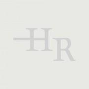 HudsonReed Kit de douche thermostatique avec inverseur – Pommeau plat fixe – Buses hydromassantes – Kit douchette sur rampe – Chromé - Como
