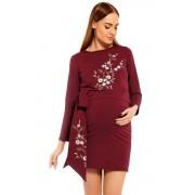 Bonnie kismama és szoptatós ruha, borszín S/M