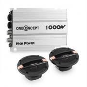 Auna CS213C 2.0 HIFI, set auto pentru automobile | 2 Boxe | amplificator pe 4 canale, 4x30W (PL-8673-0345)