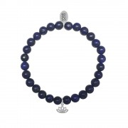 CO88 Armband Lotus Strength en Honesty staal/lapis/blauw, rek/all-size 8CB-17042