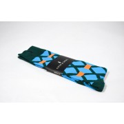 Sock & Soul Windows Clear Skies Socks Teal/Sky Blue/Orange