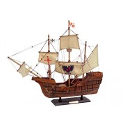 "Santa Maria With Embroidery 20"" Wood Model Boat Christopher Columbus Tal"