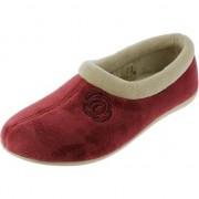 Merkloos Rode stevige sloffen/pantoffels voor dames 40 - Sloffen - volwassenen