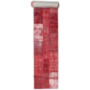 Annodato a mano. Provenienza: Turkey 81X610 Tappeto Patchwork Moderno Fatto A Mano Alfombra Pasillo Rosso/Rosa (Lana, Turchia)