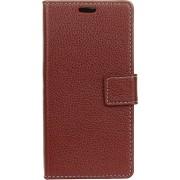 Mobigear Litchi Wallet Book Case Bruin Huawei Mate 20 Pro