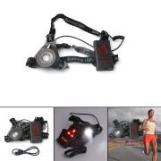 XANES Outdoor LED Chest Light Night Running Warning Lights With Removable Fixing Band USB Charge For Camping Hiking Running