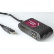 USB kabel 5m aktivni, AM - 2x AF, Roline, crni
