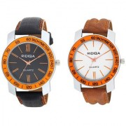RIDIQA Black Strap White Dail Combo Watches for men's combo RD-116-121