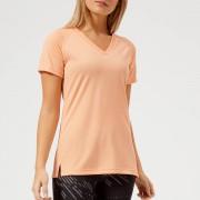 Asics Running Women's V Neck Short Sleeve Top - Apricot Ice - XS - Orange