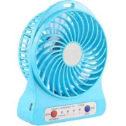 Multi Functional Rechargeable Battery USB Mini Fan Portable Comfort with 3 Speed Level Fan (Pack of 1Pcs)
