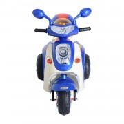 Moto Scooter Électrique Pour Enfants 6 V Env. 3 Km/H 3 Roues Et Topcase Effet Lumineux Et Sonore Bleu 34