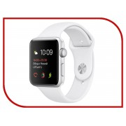 Умные часы APPLE Watch Series 2 38mm Silver with White Sport Band MNNW2RU/A