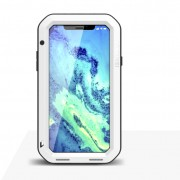 LOVE MEI for iPhone XS/X 5.8-inch Shockproof Dust-proof Defender Phone Casing - White