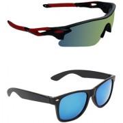 Zyaden Combo of 2 Sunglasses Sport and Wayfarer Sunglasses- COMBO 2735