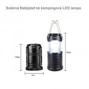 Made in PRC Solárna Nabíjateľná kempingová LED lampa