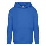 Dziecięca bluza z kapturem Premium Hooded Sweat Fruit of the Loom Niebieski