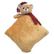 Ultra Christmas Teddy Pillow 12 Inches - Brown
