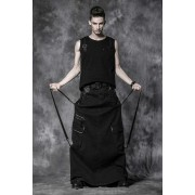 Punk Rave Gothic Long Skirt Black Q-222