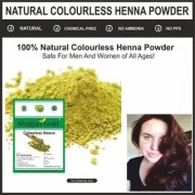 Colourless Henna Fresh Leaves Mehndi Powder for Hair color smoothing 200gm