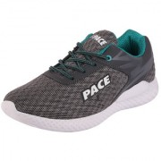 Lakhani Pace Energy Men's Grey Green Sports Running Shoes