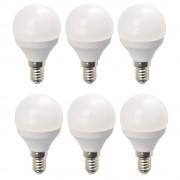 Set 6 Becuri LED Drimus 6W E14 Lumina Calda DL 3064