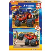Puzzle Educa - Blaze and The Monster Machines, 2x20 piese (16820)
