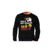 Bellatio Decorations Funny emoticon sweater Had je niet gedacht he zwart heren
