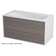 SAPHO - KROMA umyvadlová skříňka 89x45x45cm, bílá/mali wenge (KR091) SAPHO