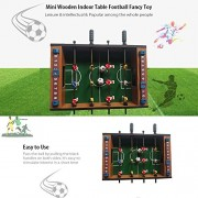 Tradico® Mini Wooden Room Soccer Table Football Game Manual Interaction Children Adults