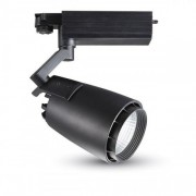 Sínes LED lámpa , track light , 1 fázisú , 2 pólusú , 33 Watt , természetes fehér , fekete