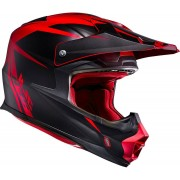 HJC FX-Cross Axis MX Helm Schwarz Rot 2XL