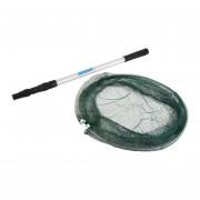 EH 1,7 M De Redes De Pesca De Aluminio Tres-Verde Y Plata