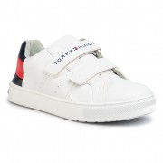 Сникърси TOMMY HILFIGER - Low Cut Velcro Sneaker T3B4-30719-0193 S White/Blue/Red Y003