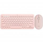 Kit Teclado Mouse LOGITECH K380 M350 Bluetooth Rosa