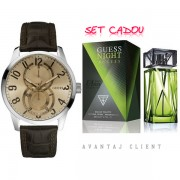 Guess Ceas & Parfum Guess Night Set Ceas Barbatesc