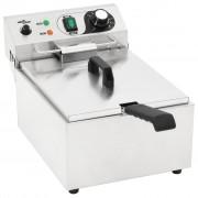 vidaXL Електрически фритюрник, неръждаема стомана, 10 л, 3000 W